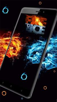 Fire and Ice Lava Live Wallpaper screenshot 1