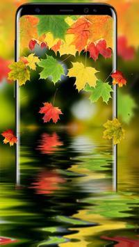 Colorful Leaf Live Wallpaper Poster Screenshot 1