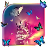 Butterfly Colorful Live wallpaper (free) icon