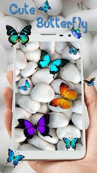 Butterfly Colorful Live wallpaper (free) poster