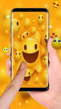 happy ecstatic emoji Live Wallpaper poster