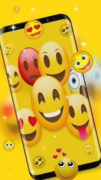 happy ecstatic emoji Live Wallpaper apk screenshot