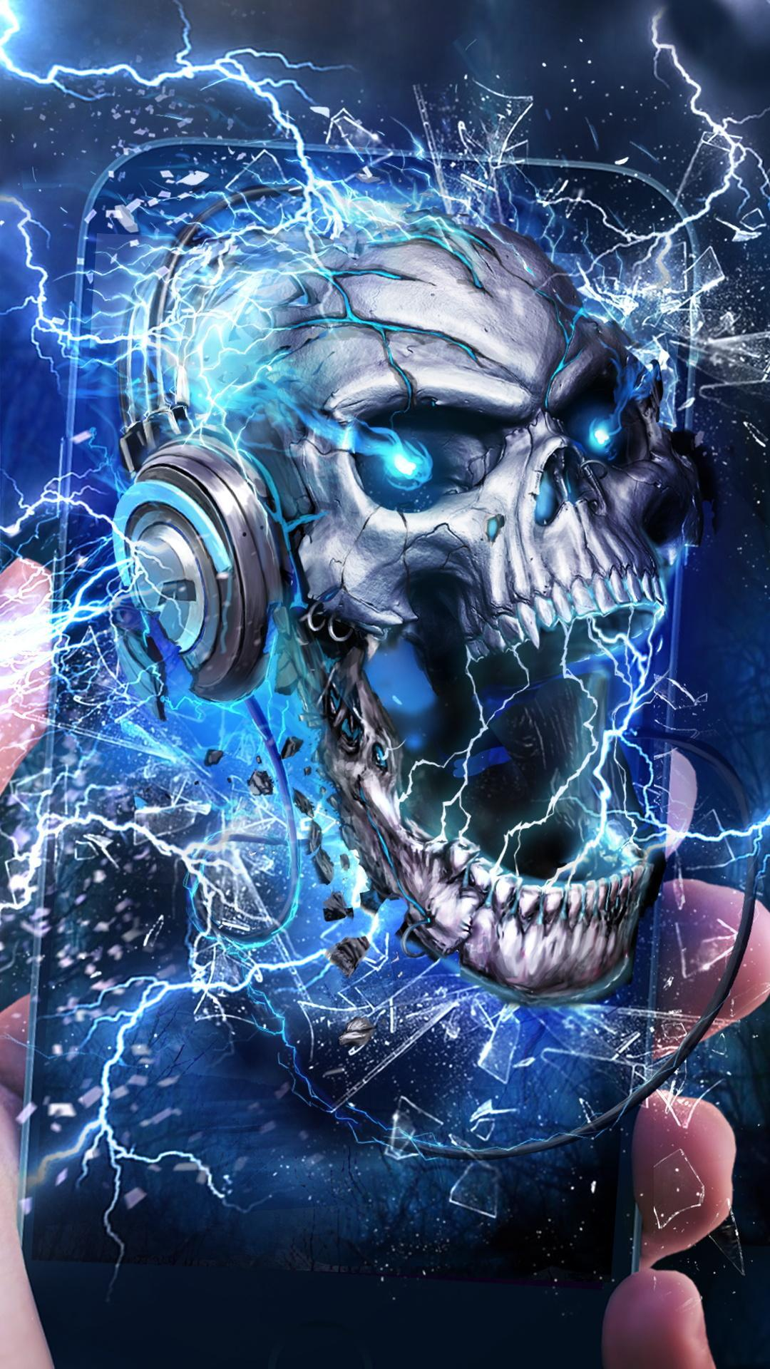 Electric Skull Live Wallpaper for Android - APK Download
