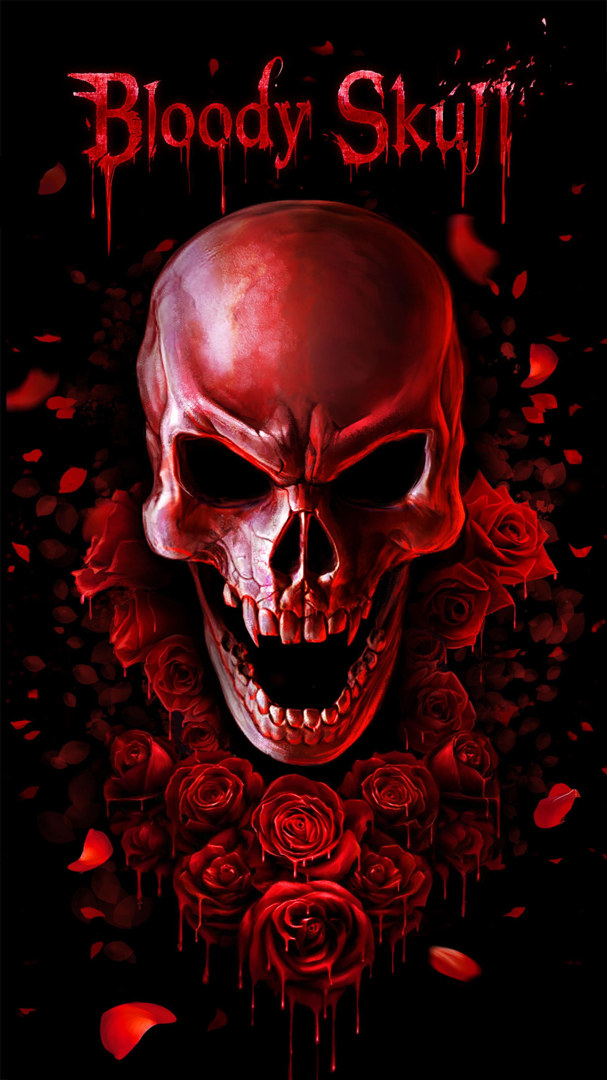 Red Blood Skull Live Wallpaper For Android Apk Download