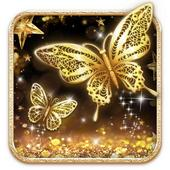 Golden Butterfly Live Wallpaper icon