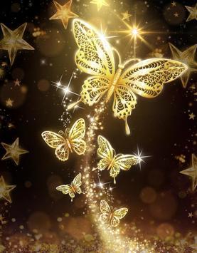 Golden Butterfly Live Wallpaper screenshot 3