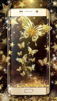 Golden Butterfly Live Wallpaper poster