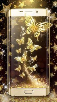 Golden Butterfly Live Wallpaper screenshot 2