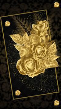 Lava Rose Golden Live Wallpaper poster