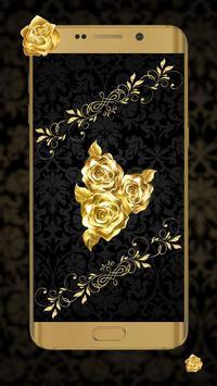 Lava Rose Golden Live Wallpaper screenshot 1