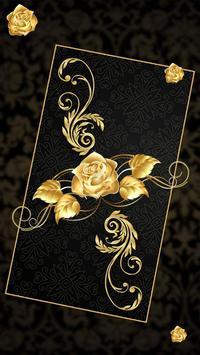 Lava Rose Golden Live Wallpaper screenshot 2