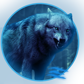 Glow wolf Live Wallpaper icon