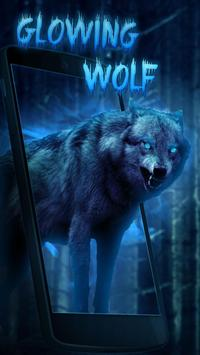 Glow wolf Live Wallpaper poster
