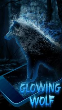 Glow wolf Live Wallpaper screenshot 1