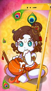 Krishna God janmashtami Live Wallpaper poster