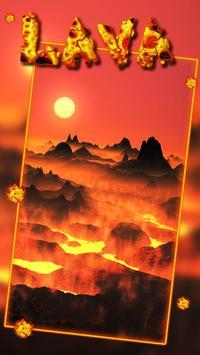 Floor is volcano lava Live Wallpaper poster