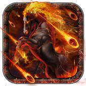 Hell Burning Horse Live Wallpaper icon