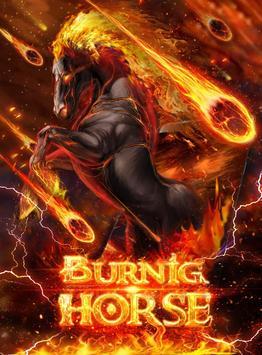 Hell Burning Horse Live Wallpaper poster