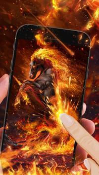 Hell Burning Horse Live Wallpaper apk screenshot