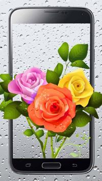 Rosy Rain Drops Live Wallpaper poster