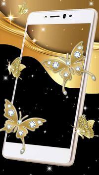 Sparkling Butterflies Live Wallpaper poster