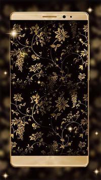 Gleaming gold Leaves Live Wallpaper screenshot 1