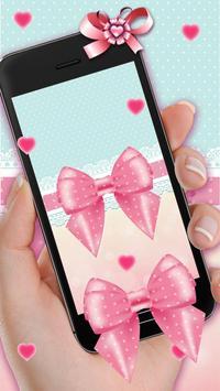 Glittering Pink Bowknot Live Wallpaper screenshot 1