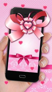 Glittering Pink Bowknot Live Wallpaper screenshot 2