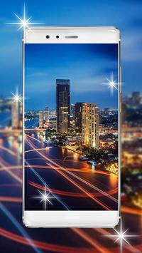 Glowing City Lights Live Wallpaper poster