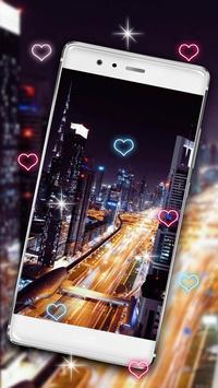 Glowing City Lights Live Wallpaper screenshot 1