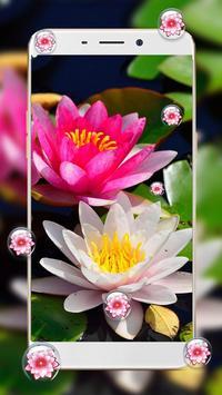 Lotus Flower Bubble Live Wallpaper poster