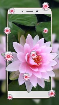 Lotus Flower Bubble Live Wallpaper screenshot 2