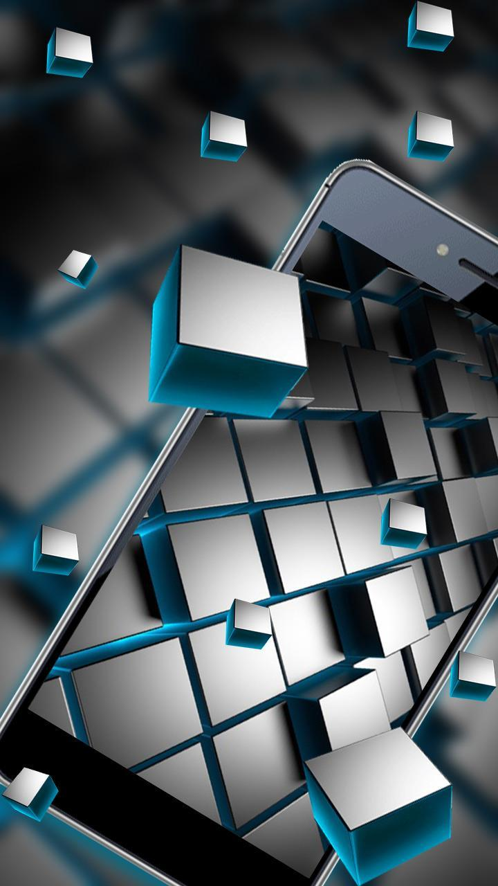 Matte Black Cubes Live Wallpaper For Android Apk Download