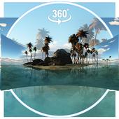 3D-тема Тропический остров (панорама ВР) иконка