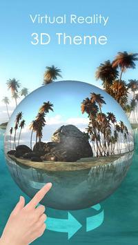 3D-тема Тропический остров (панорама ВР) постер