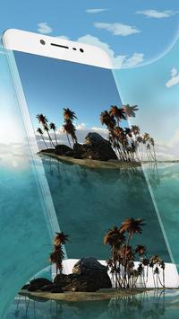 3D-тема Тропический остров (панорама ВР) скриншот приложения