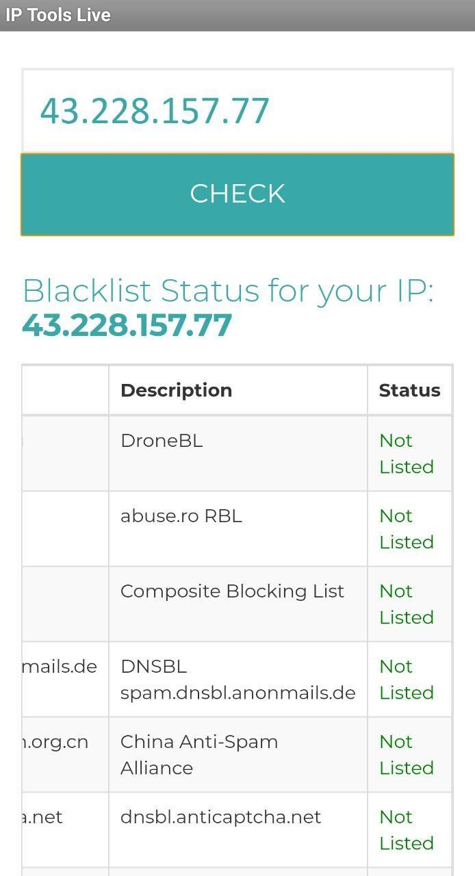 IP Blacklist Check for Android - APK Download