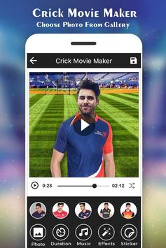 Cricket Photo Video Maker :IPL poster