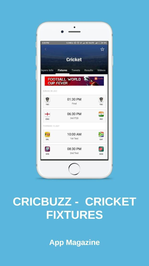 Free Cricbuzz Cricket Live Streaming /Scores/News for