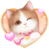 Lovely Pink Cat Live Wallpaper icon