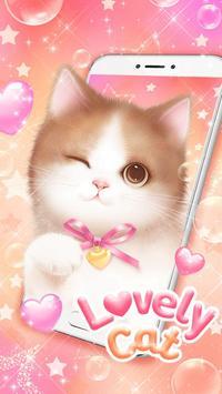 Lovely Pink Cat Live Wallpaper screenshot 2