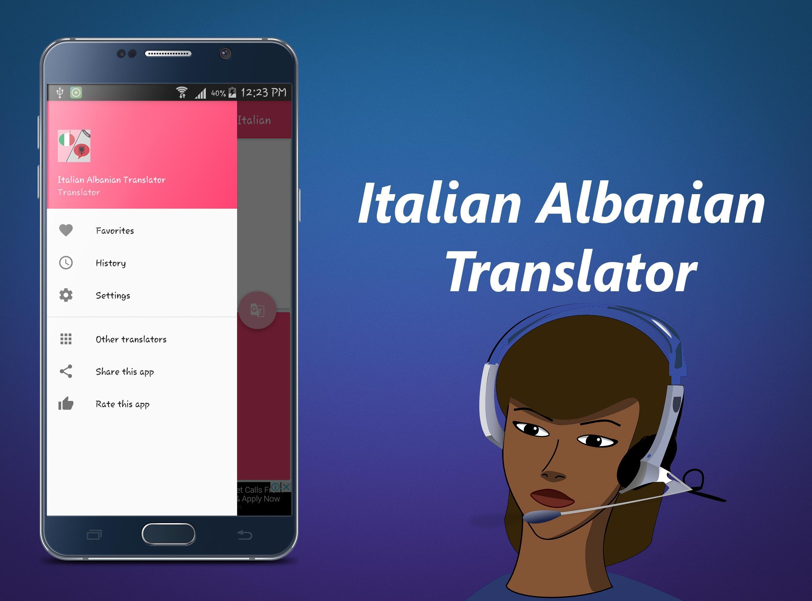 Translator Italian: Italian Albanian Translator For Android