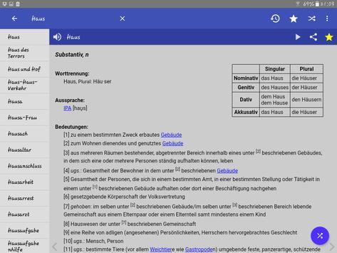 German Dictionary Offline apk screenshot