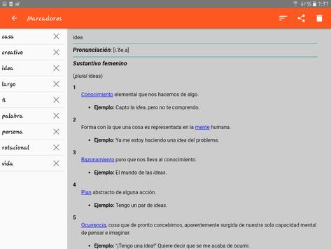 Spanish Dictionary - Offline apk screenshot