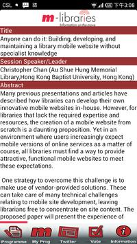 m-libraries Conference screenshot 3
