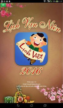 Lich Van Nien 2016 - Lich Viet poster
