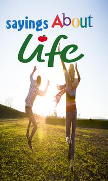 sayings about life poster