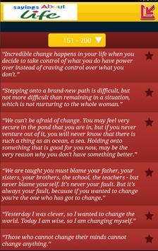 sayings about life apk screenshot