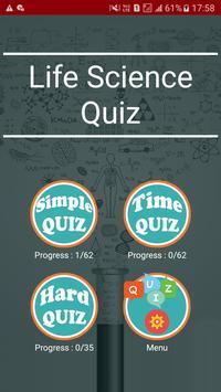 Life Science Quiz poster