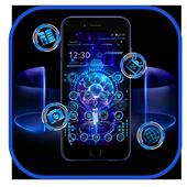 Technology Blue 3D Theme icon